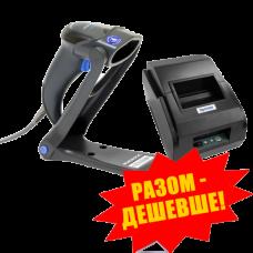 """Комплект торгового оборудования """"Все в 1"""" (Ручной сканер штрих-кода Datalogic QuickScan Lite QW2100 + Принтер чеков Xprinter XP-58IIL)"""