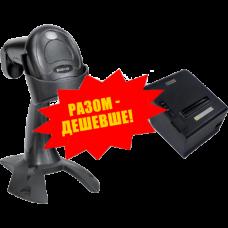 """Комплект торгового оборудования """"Все в 1"""" (Ручной сканер штрих-кода GEOS SD 580 + Принтер чеков GEOS RP-3101)"""