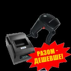 """Комплект торгового оборудования """"Все в 1"""" (Ручной сканер штрих-кода Scantech LG 610 + Принтер чеков Xprinter XP-58IIL)"""