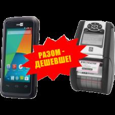 """Комплект торгового оборудования """"Все в 1"""" (Терминал сбора данных CipherLab RS 31 + Мобильный принтер этикеток Zebra QLn220)"""