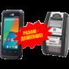 Комплект торгового оборудования «Все в 1» (Терминал сбора данных CipherLab RS 31 + Мобильный принтер этикеток Zebra QLn220)