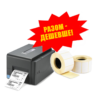 Комплект торгового оборудования «Все в 1» (Настольный принтер этикеток TSC TE-200 + Термоэтикетка T.Eco 100 мм х 100 мм / 1000 шт)